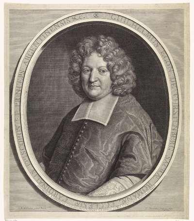 Portret van kardinaal Wilhelm Egon von Fürstenberg-Heiligenberg