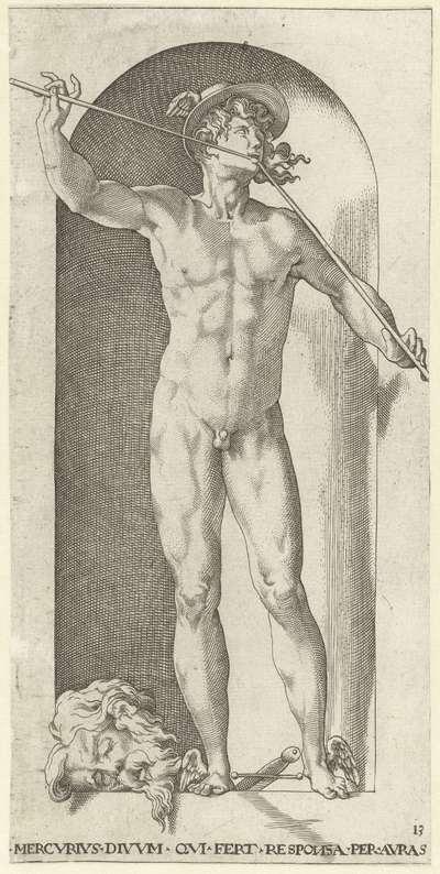 Mercurius met het hoofd van Argus; Goden en Godinnen