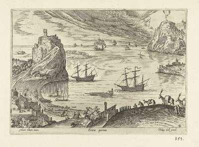 Gezicht op de haven van Lerici; Ericis portus; Ruinarum varii prospectus