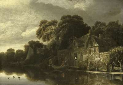 Image from object titled Old Cottage on the Water