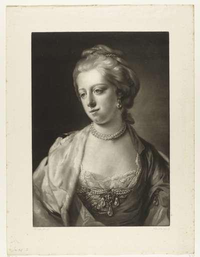 Portret van Carolina Matilda, koningin van Denemarken