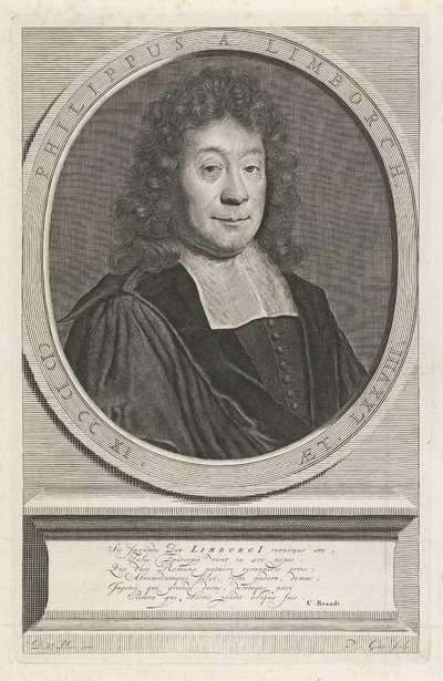 Portret van Philippus van Limborch op 78-jarige leeftijd