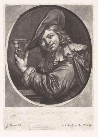 Jonge man met een roemer