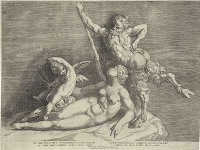 Beeldengroep van Venus, Amor en een sater