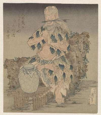 Man in gewaad van bladeren