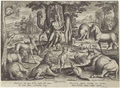 Orpheus, musicerend voor de dieren