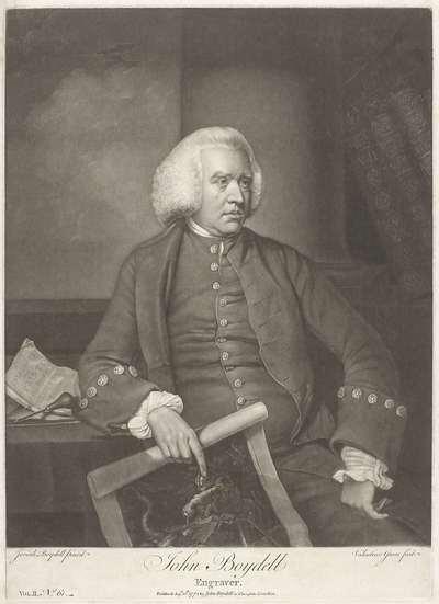 Portret van de prentmaker en uitgever John Boydell