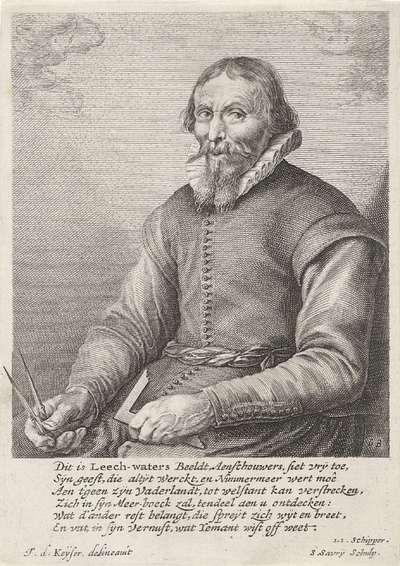 Portret van Jan Adriaensz. Leeghwater, waterbouwkundige