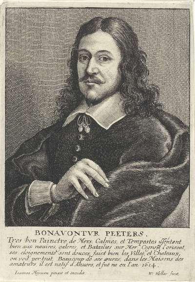 Portret van Bonaventura Peeters de Oude; Portretten van kunstenaars; Image de divers hommes desprit sublime