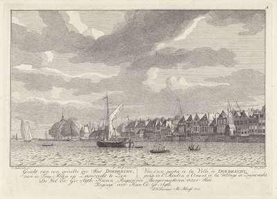 Gezicht op Dordrecht vanaf Zwijndrecht; Verschillende gezichten op Dordrecht