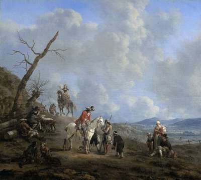 Image from object titled Landscape with Riders, Hunters and Peasants