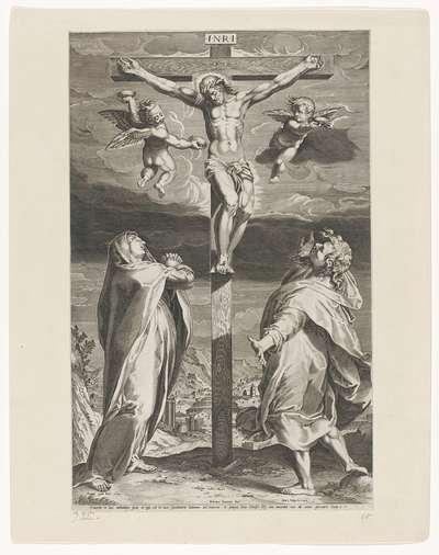 Gekruisigde Christus met Maria en Johannes