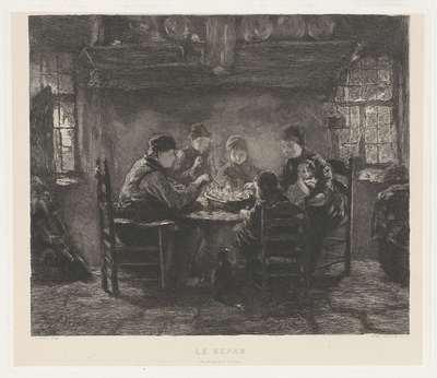 Familie aan de maaltijd; Le Repas