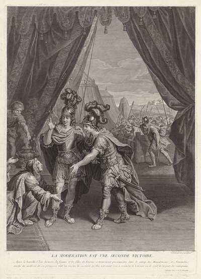 Alexander de Grote bij de familie van Darius; La moderation est vne seconde victoire.