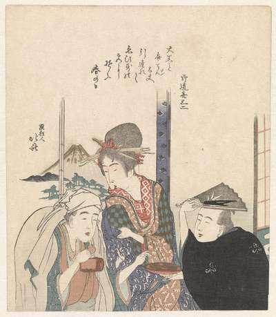 Parodie van de goden Daikoku en Benten