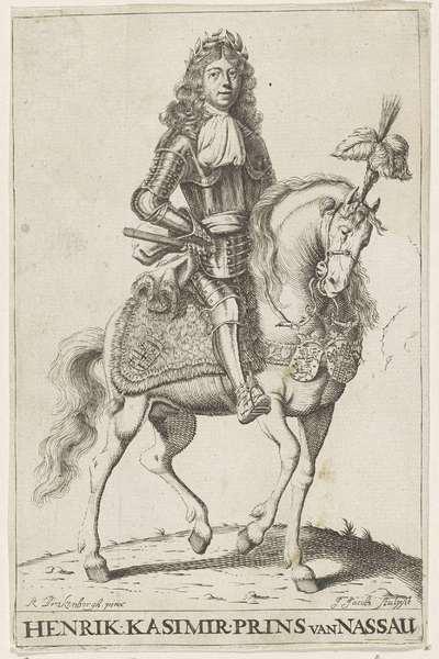 Ruiterportret van Hendrik Casimir II, graaf van Nassau-Dietz