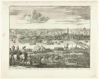 Beleg van Zaltbommel door Mendoza, 1599; De stad Bommel belegert door den admirant, maar verlost door prins Maurits, in t' jaar 1599
