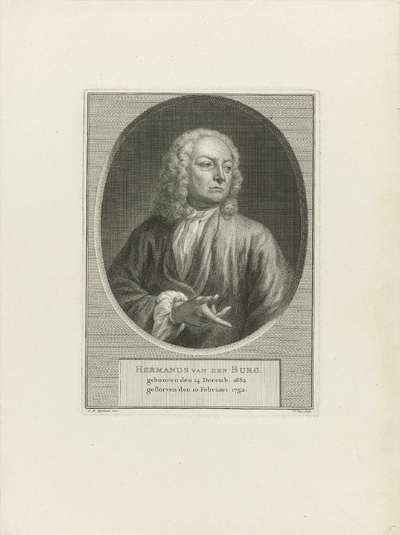 Portret van Hermanus van den Burg