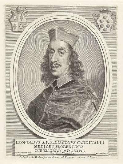 Portret van kardinaal Leopoldo de' Medici; Effigies Cardinalium nunc viventium