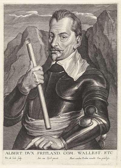 Portret van Albrecht von Wallenstein, graaf van Friedland