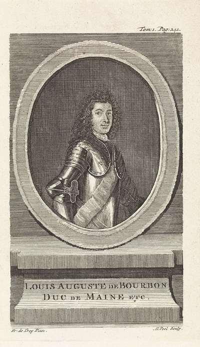 Portret van Louis Auguste de Bourbon, hertog van Maine