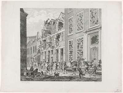 Plundering van het huis van Lucas van Steveninck, 1787