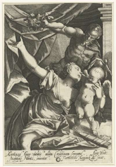 Venus en Amor met Pan; Eros en Anteros