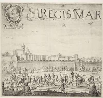 Het paleis van de sultan van Marokko (plaat 4), 1640-1641; Palatium Magni Regis Maroci, in Barbaria
