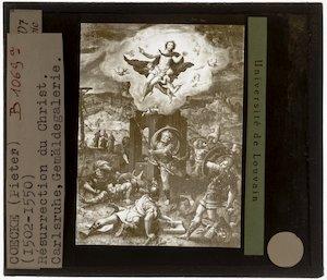 Pieter Coecke van Aelst. Triptiek van de Verrijzenis; Centraal paneel