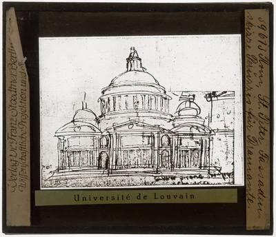 Stato della Città del Vaticano. Basilica di San Pietro; Donato Bramante. Ontwerpschets van voorgevel
