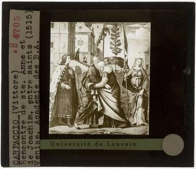 Vittore Carpaccio. Ontmoeting tussen Anna en Joachim
