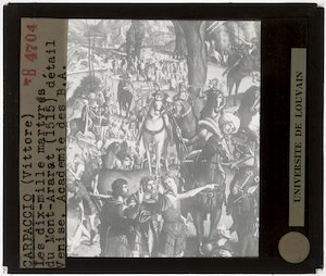 Vittore Carpaccio. Tienduizend martelaren op de berg Ararat