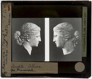 Praxiteles (naar). Aphrodite van Cnidus; Detail: Hoofd, profielen