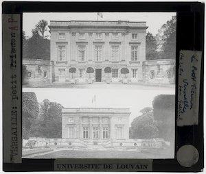 Versailles. Petit Trianon; Exterieur: Voor- en achtergevel
