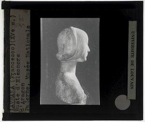 Francesco Laurana. Portret van Eleonora d'Aragona; Profiel