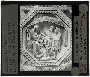 Orcagna. Tabernakel; Detail: Aanbidding van de koningen