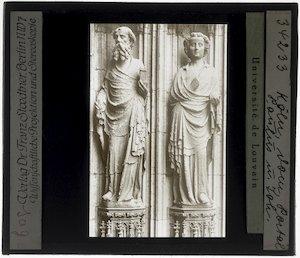 Peter Parler (familie). Zuilbeelden van Paulus en Johannes; Köln, Kölner Dom