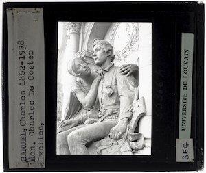 Image from object titled Charles Samuel. Frans De Vestel. Monument voor Charles De Coster