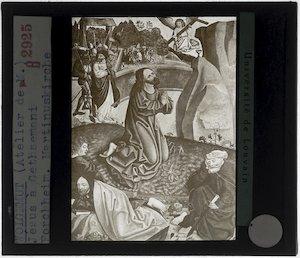 Wolfgang Katzheimer (toegeschreven). Hoogaltaar uit de Stadtpfarrkirche Sankt Martin, Forchheim; Detail: Christus op de Olijfberg