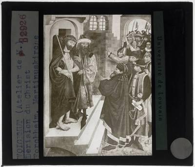 Wolfgang Katzheimer (toegeschreven). Hoogaltaar uit de Stadtpfarrkirche Sankt Martin, Forchheim; Detail: Ecce Homo