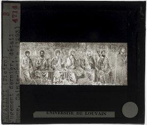 Image from object titled Pietro Cavallini. Laatste oordeel; Detail: Heiligen