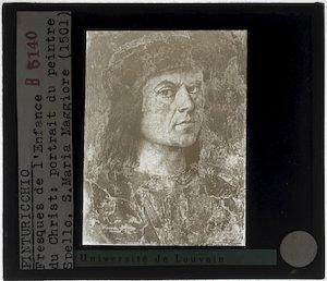 Pinturicchio. De annunciatie; Detail: Portret van Pinturicchio
