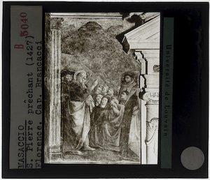 Masaccio. Sint-Petrus aan het prediken