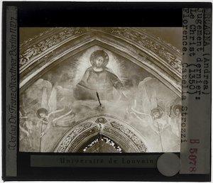 Orcagna. Het Laatste Oordeel; Detail: Christus
