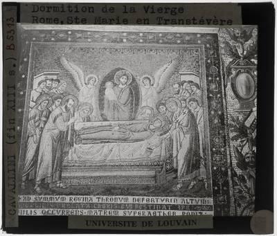 Pietro Cavallini. Scènes uit het leven van Maria; Dood van Maria