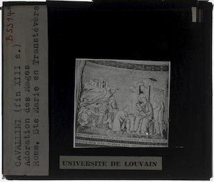 Image from object titled Pietro Cavallini. Scènes uit het leven van Maria; Aanbidding van de koningen