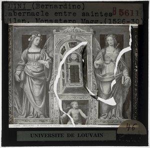 Bernardino Luini. Tabernakel tussen heiligen