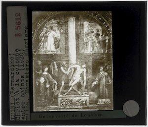 Bernardino Luini. Christus aan de zuil tussen heiligen