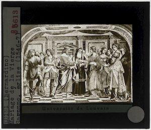 Bernardino Luini. Het huwelijk van Maria