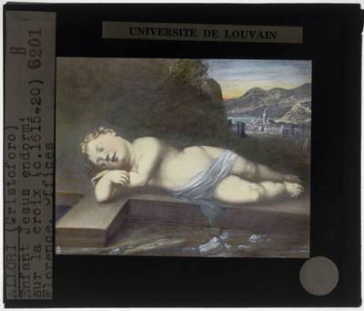 Cristofano Allori. Christuskind slaapt op kruis